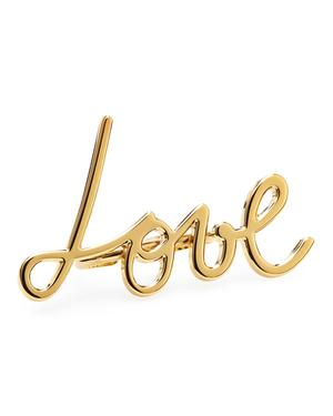 "Golden ""Love"" ring"