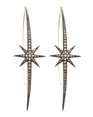 Thin and long Star earrings